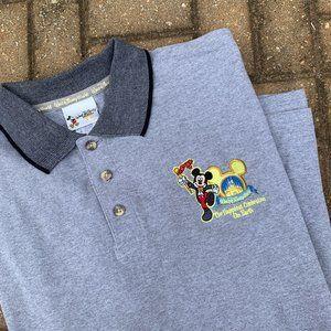 Walt Disney World Men's Grey Embroidered Polo XL